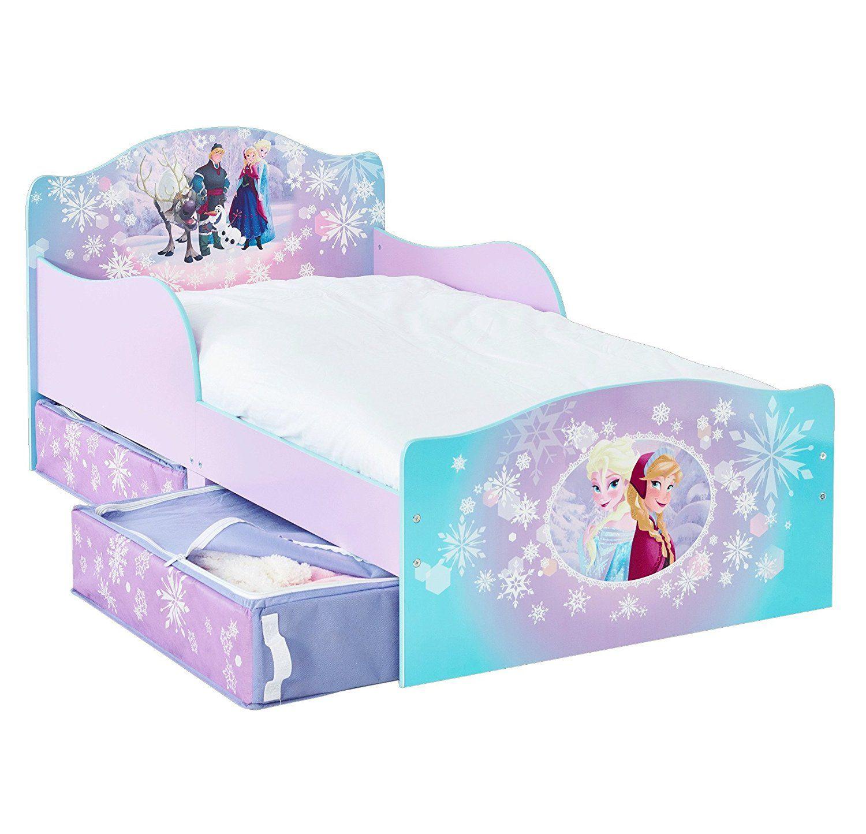 Disney Frozen Kleinkinderbett mit Stauraum | Kinderbett Eiskönigin ...