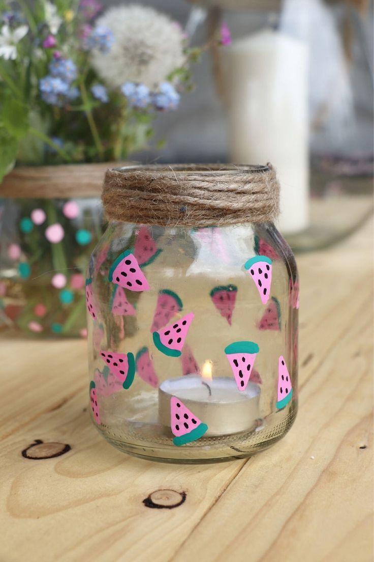 Gartendeko basteln: Gläser-Upcycling-Idee für gemütliche Stunden - Lavendelblog