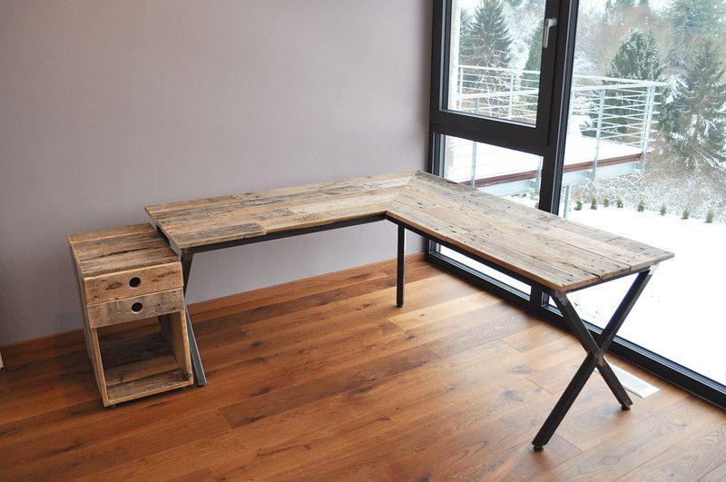 Schreibtische Schreibtisch Ecktisch Ein Designerstuck Von Woody Dekor Bei Dawanda Eckschreibtisch Selber Bauen Schreibtisch Selber Bauen Eckschreibtisch