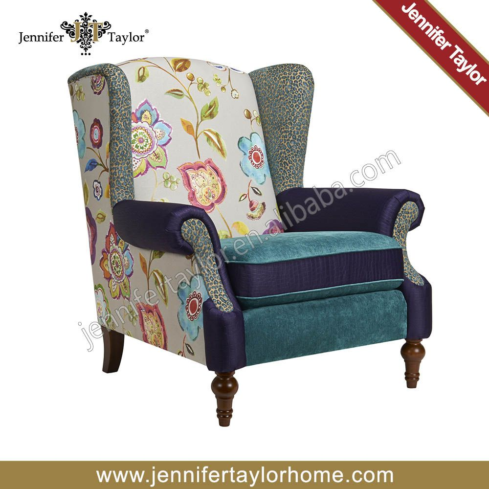 living room furniture modern patchwork multicolor armchair