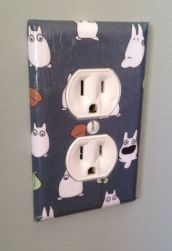 My Neighbor Totoro White Rabbits Light Switch And Outlet Cover Sets