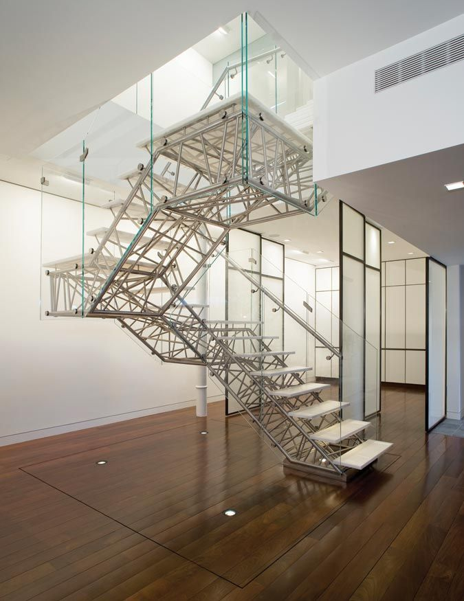 truss stair spaces we like cantilever stairs staircase design rh pinterest com