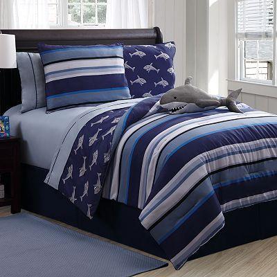 Victoria Classics Shark Reversible Comforter Set Comforter Sets
