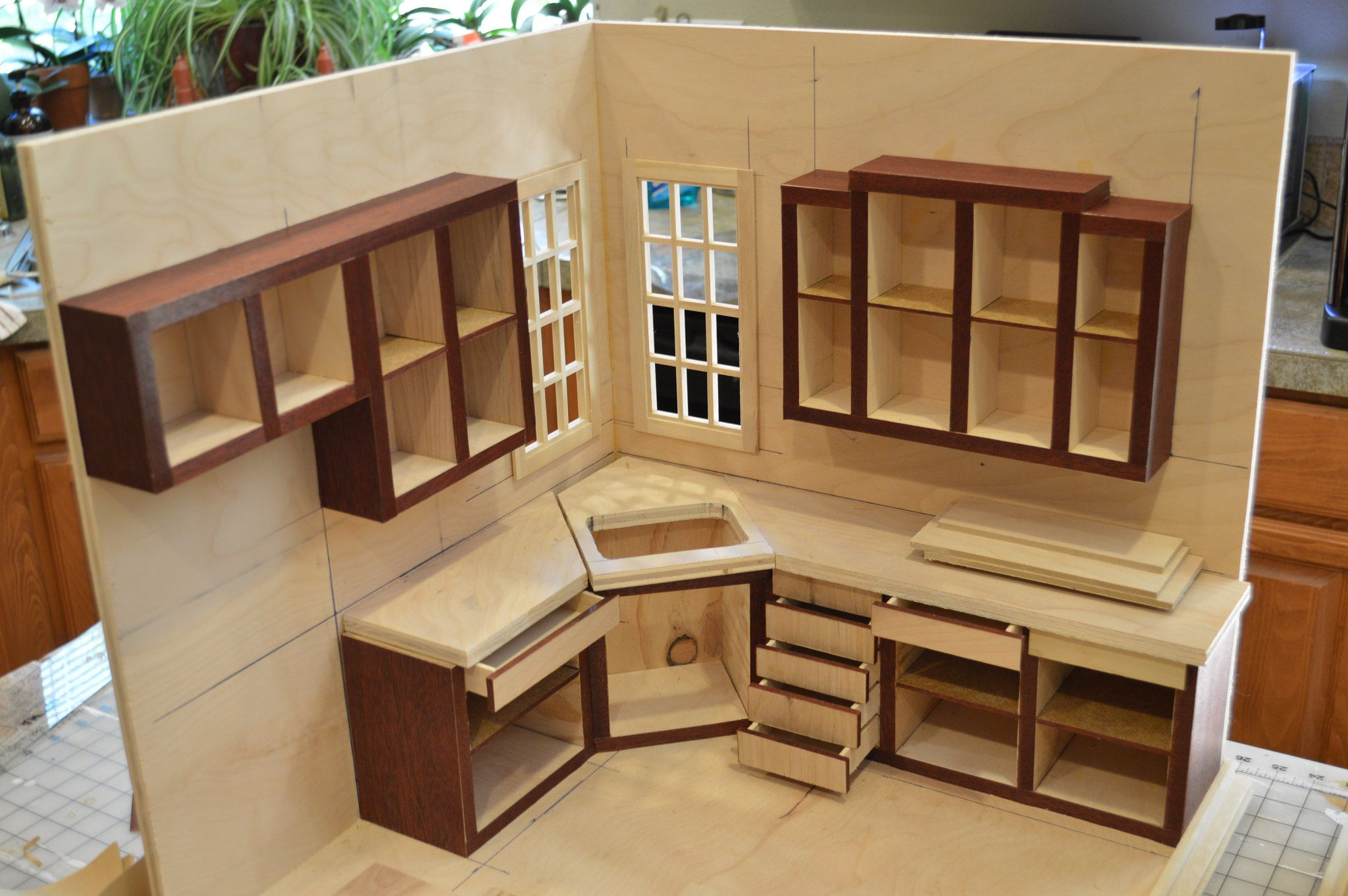 1 6 Scale Kitchen Project Doll House Plans Barbie House Furniture Doll Furniture Diy