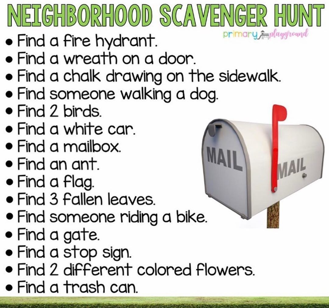 "🍿Popcorn Poppin Preschool 🍿 on Instagram: ""🔎 How many of you NEED TO GET OUTSIDE 📬 #scavengerhunt #stayingbusy #stayingactive #preschool #preK #preschoolactivity #preschoolteacher"""