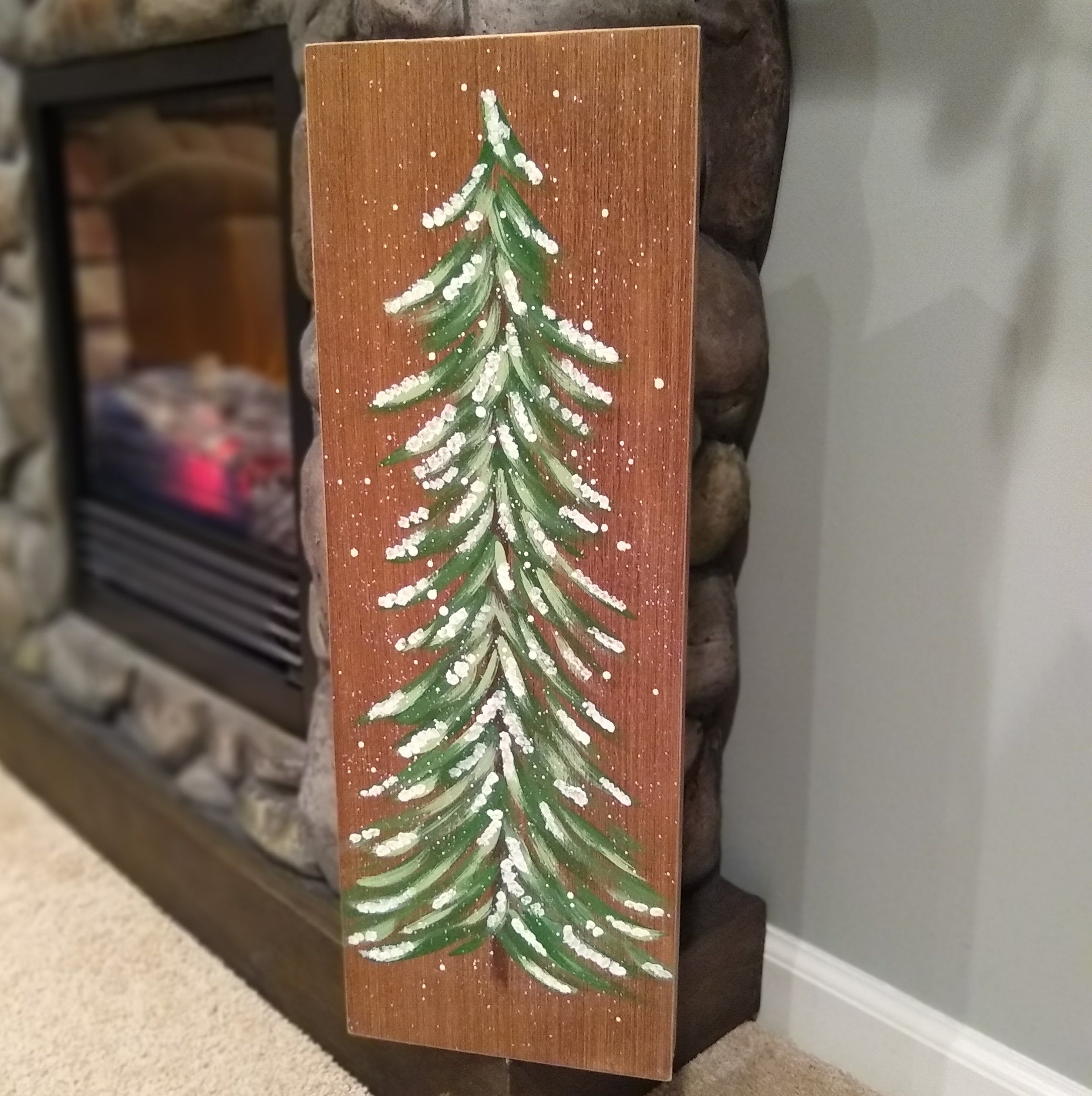 Pine Tree Art Farmhouse Decor Winter Home Decor Christmas Tree Sign Winter Tree Decor Christmas Mantel Decor Log Cabin Decor With Images Kid Room Decor Pine Tree Art Holiday Diy