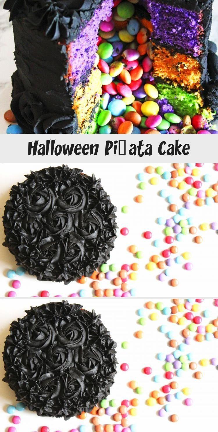 Photo of Halloween Pinata Kuchen vom Abendessen in den Vororten #PinataKuchenRegenbogen #…