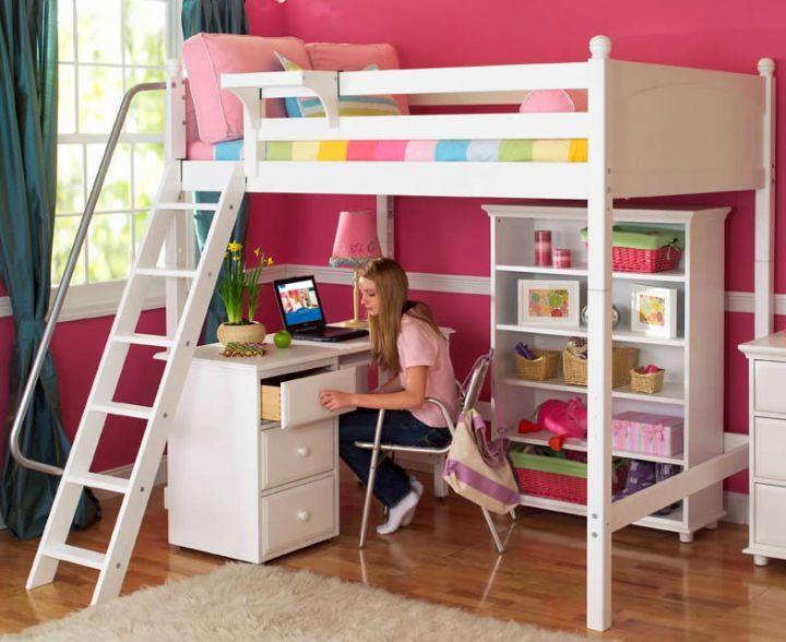 17 Spiffy White Loft Bed With Desk Designs Kids Loft Beds Girls Loft Bed Childrens Loft Beds
