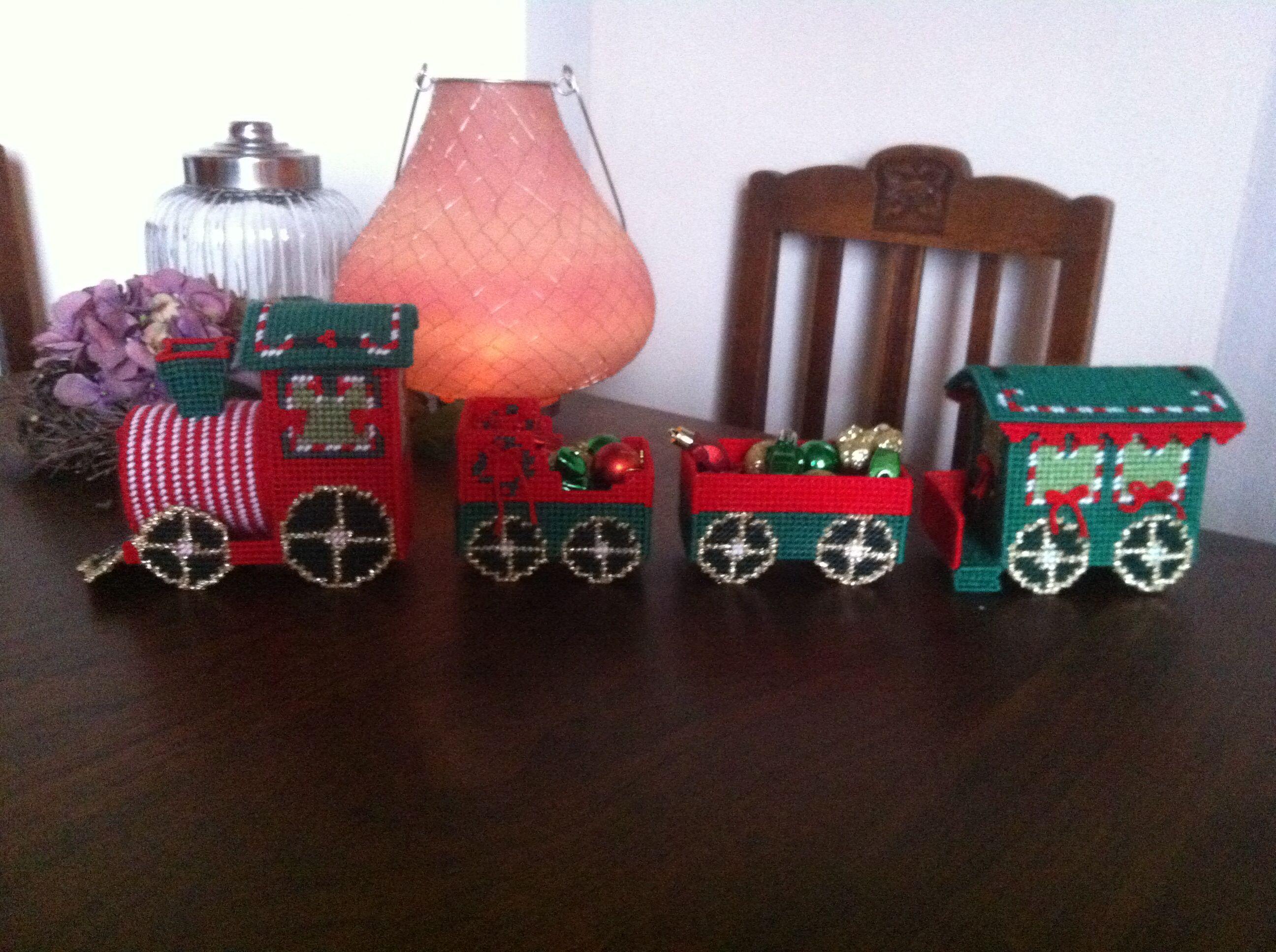 De 1Ste Zelf Gemaakte Kerst Trein