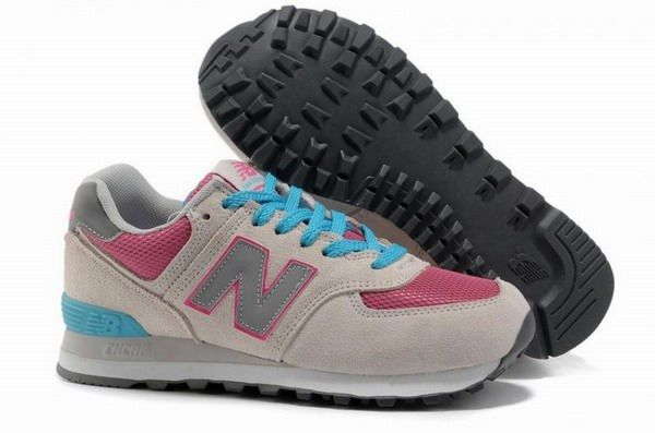 3e66cc9829976 Joes New Balance 574 WL574GPB Pink Blue Grey fashionista candy Womens Shoes
