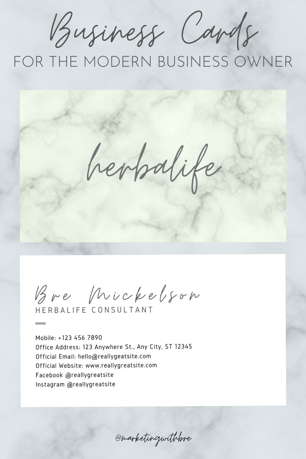 Herbalife Business Cards PDF Only Etsy in 2020