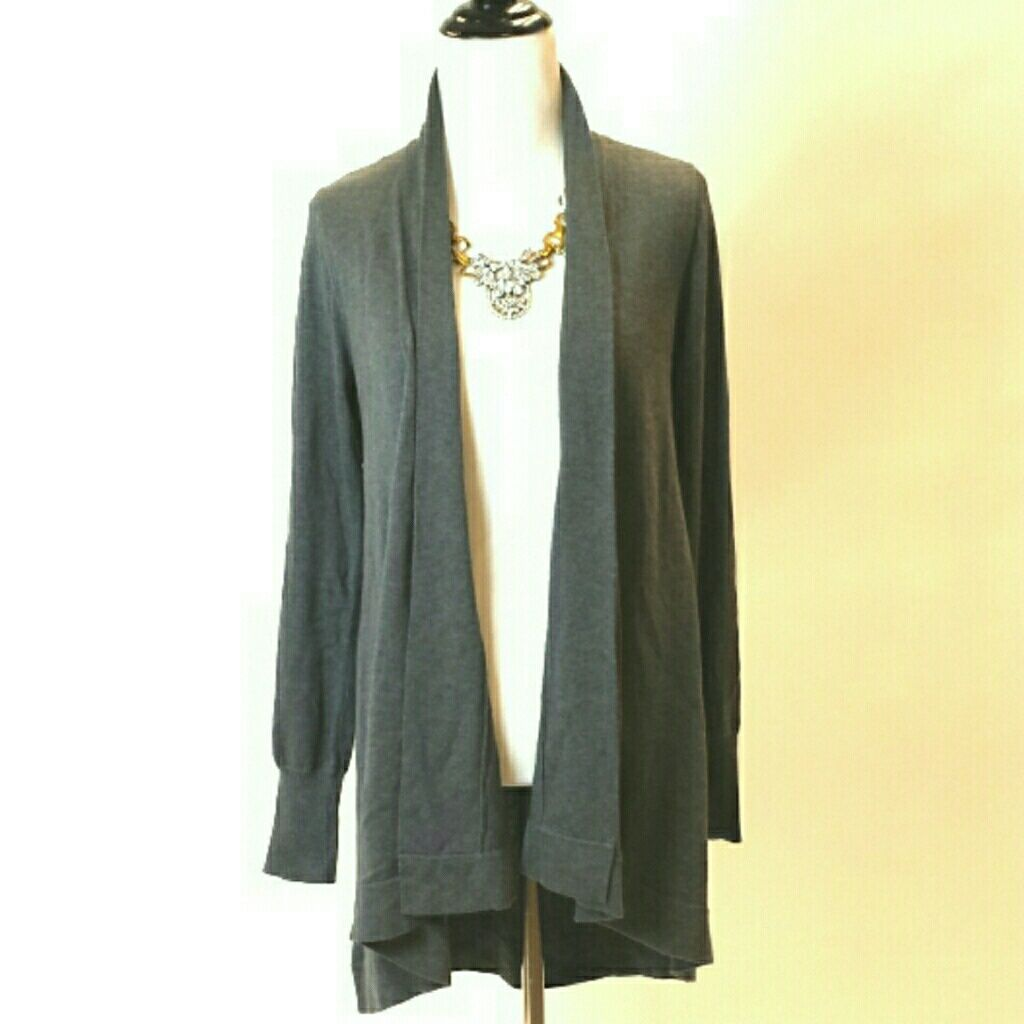 Inc | Gray Open Cardigan Sweater | Open cardigan and Products