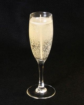 Champagne Glass Candles Using Gel Wax Drink Candles Gel Candles Gel Candle Diy