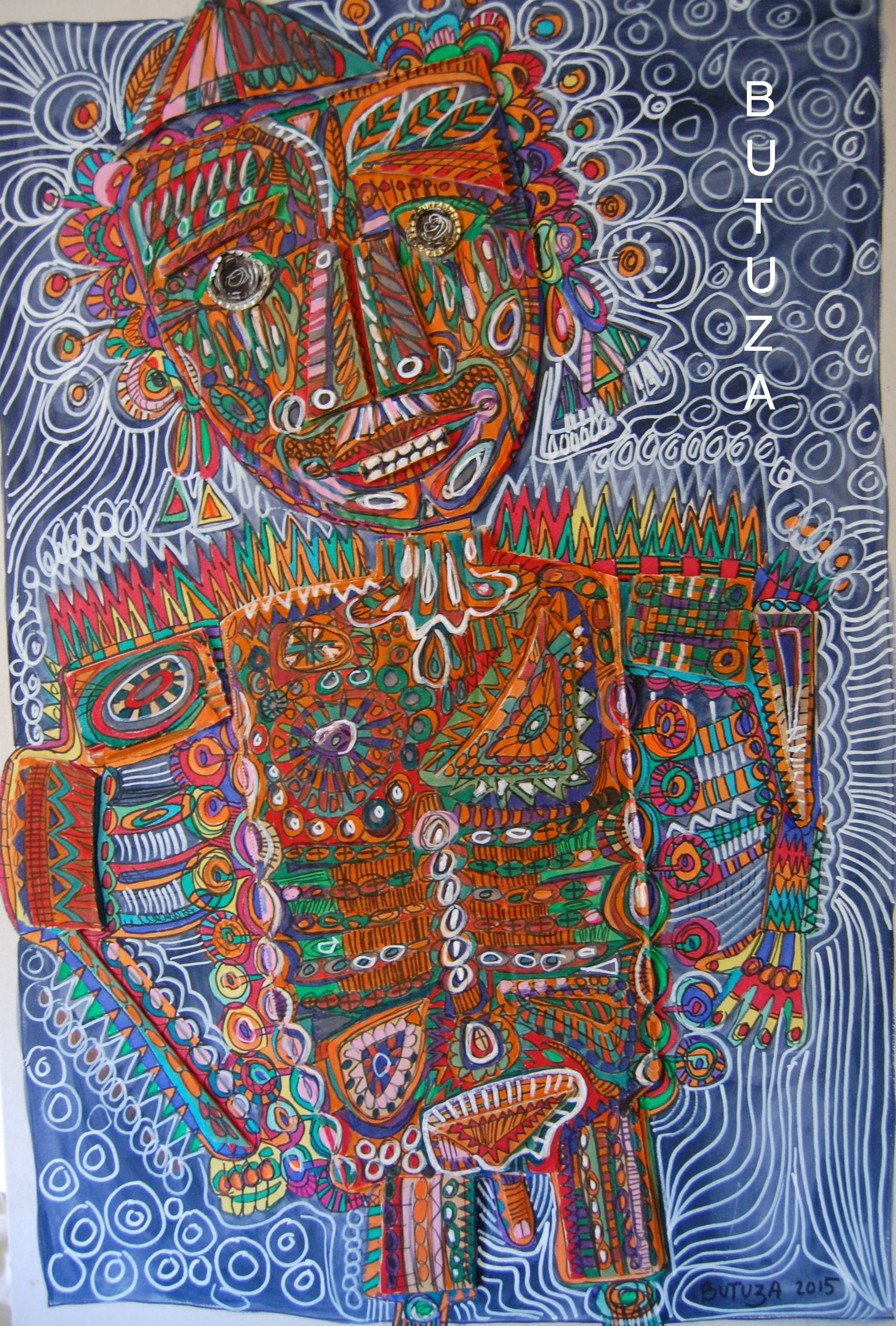 Swiss Artis Painter | Painted by Cathy Butuza  #outsiderart #artbrut #facesart #art #artist #artistic #illustration #illustrationart #drawing #sketches