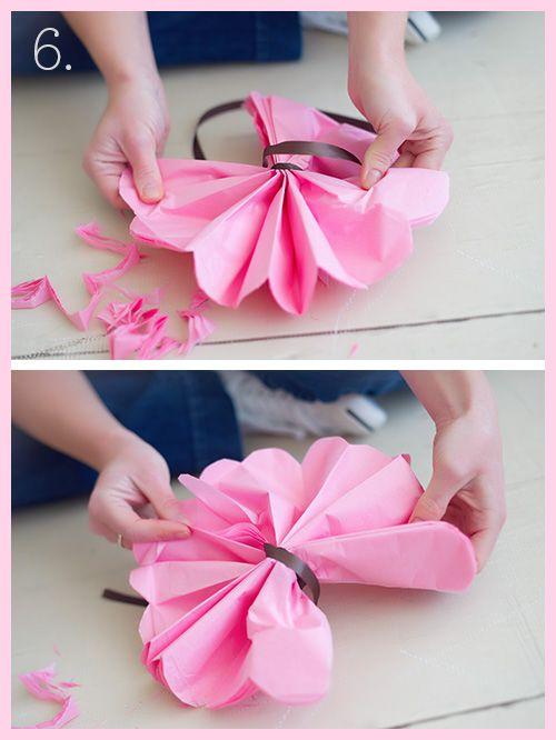 Tissue Paper Pom Pom Tutorial by Heidi Hope Photography