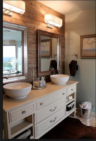 Accent Wall Behind Vanity Bathrooms