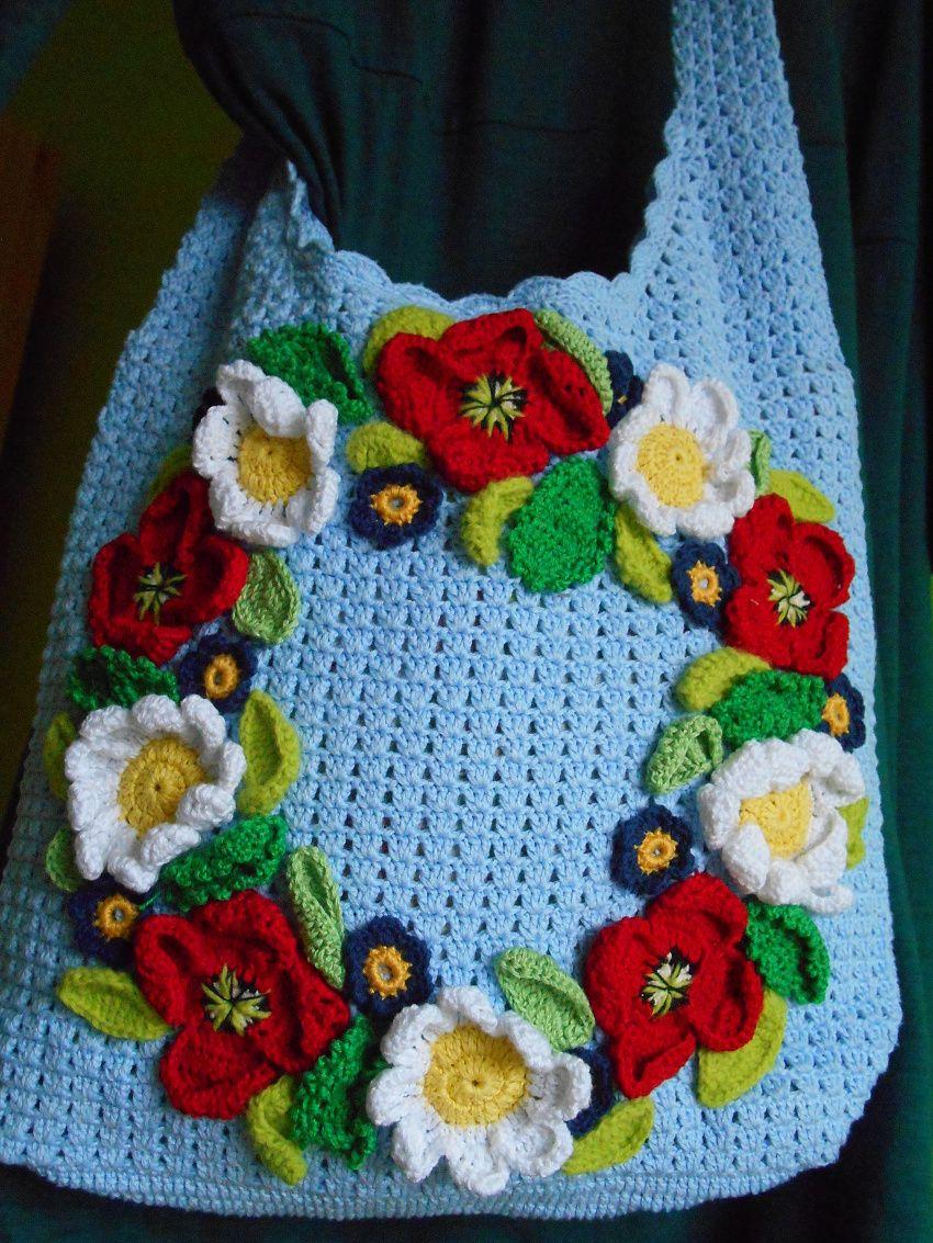 Háčkovaná taška přes rameno www.fler.cz/shop/alkmaion www.fler.cz/alkmaion