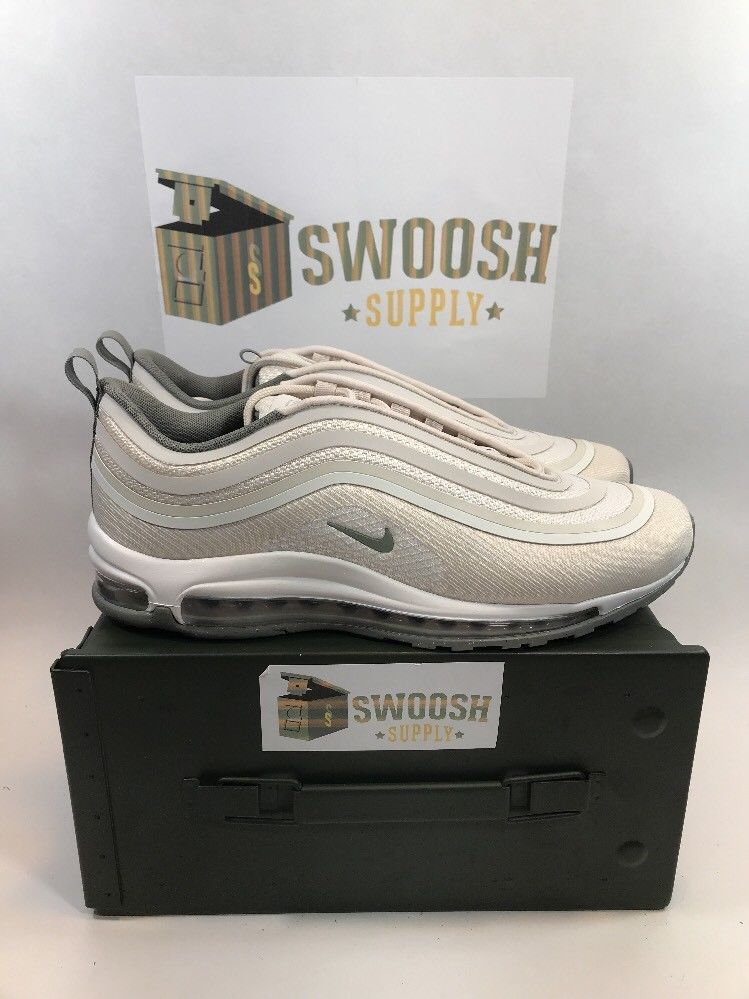 b56933cef4 NIKE AIR MAX 97 ULTRA '17 SHOES LT OREWOOD STUCCO 918356-100 SIZE 10 Men's # NIKE #AthleticSneakers