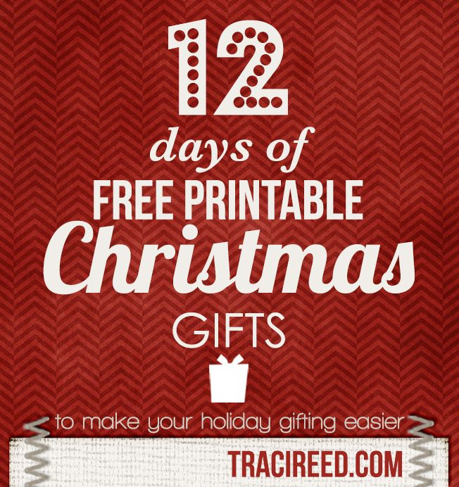 picture regarding Printable Gifts identify 12 Times of Free of charge Printable Xmas Items through Traci Reed