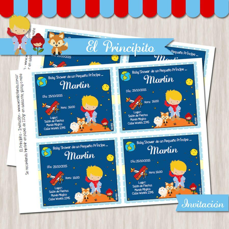 El Principito Baby Shower Invitación Rubio Coisitas Do