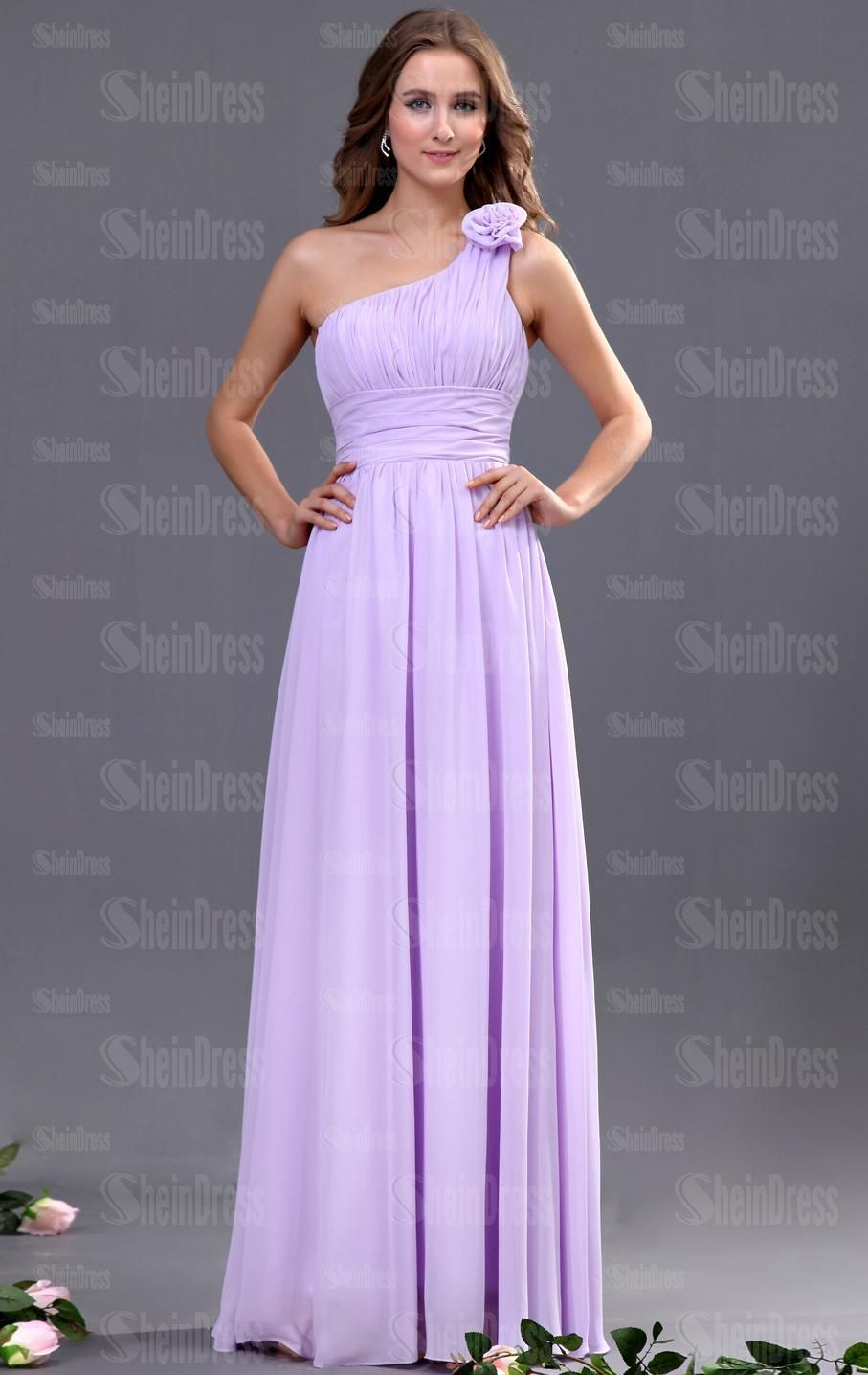 Chiffon Lilac Casual Bridesmaid Dresses BNNAH0080-SheinDressAU ...
