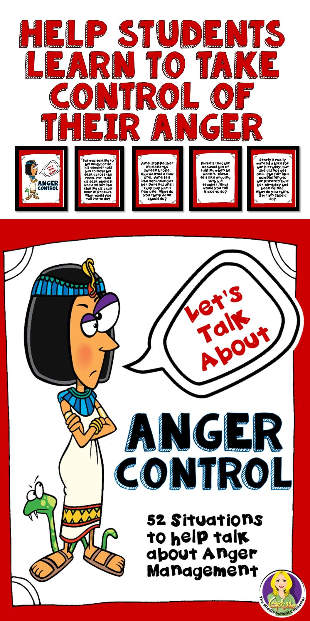 Anger Control Cards Lunch Bunch Ideas School Counseling