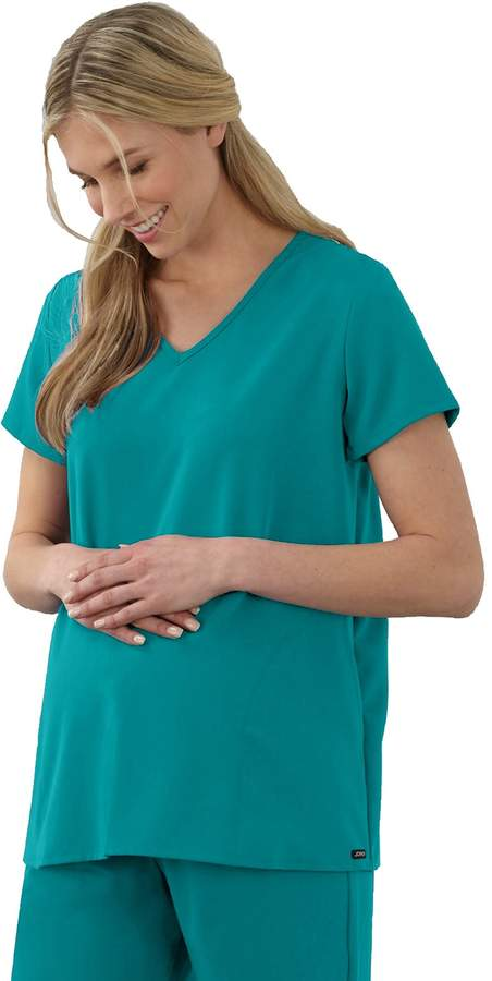 b369bc094ce Jockey Plus Size Maternity Scrubs Pleat Back Top