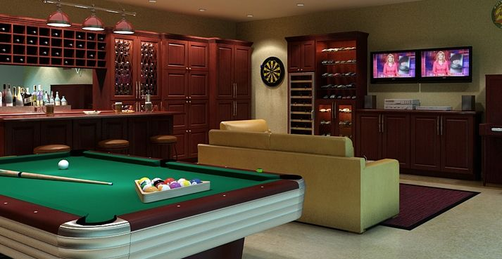 Converting Garage Into Entertainment Room On Pinterest Garages Min