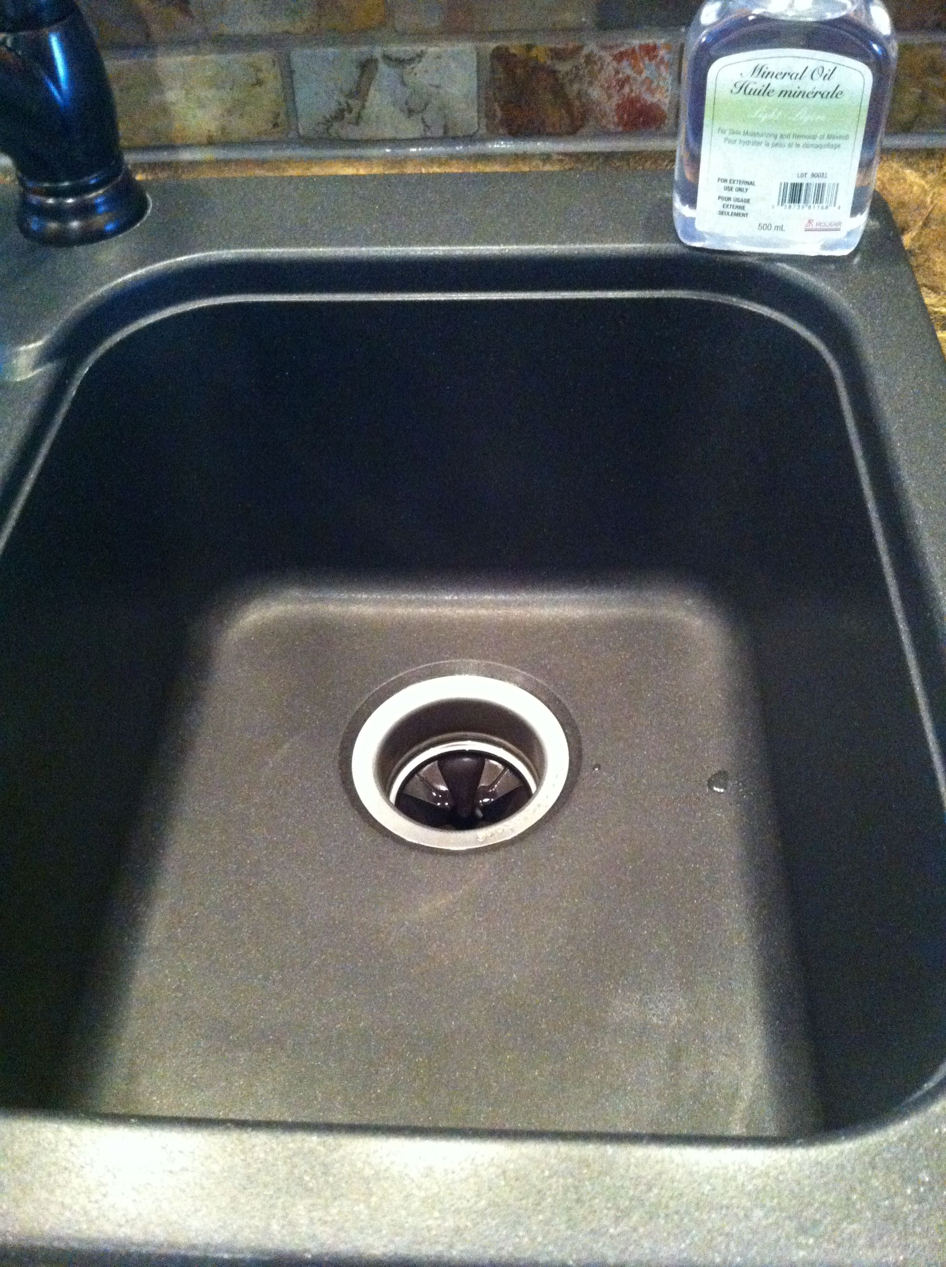 to clean and polish sil granite sinks