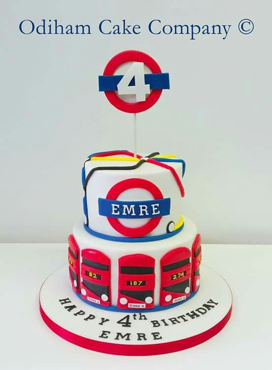 OCC - London underground themed birthday cake. #cake #birthday #london #underground