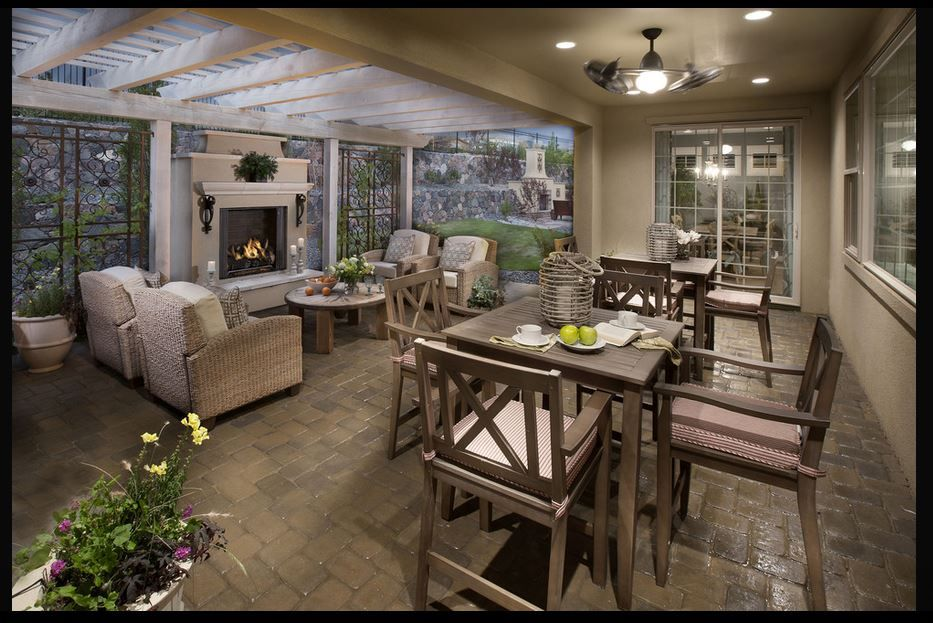 Patio Amp Fireplace Mediterranean Style Homes Luxury