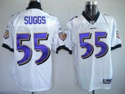 10967468c24 Terrell Suggs White Jersey  19.99 This jersey belongs to Terrell Suggs