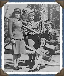 Three Marine Corps women reservists at Camp Lejeune, North ...