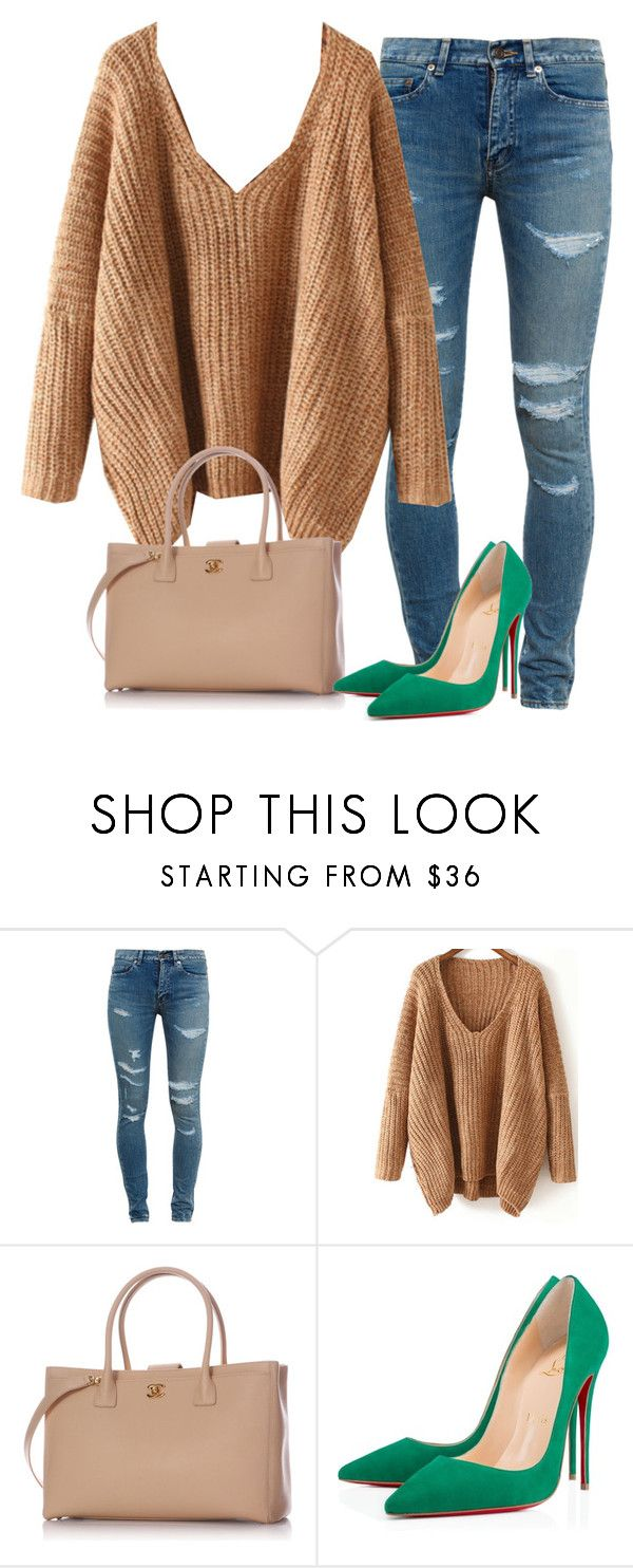 """Untitled #542"" by shanapee on Polyvore featuring Yves Saint Laurent, Chanel and Christian Louboutin"
