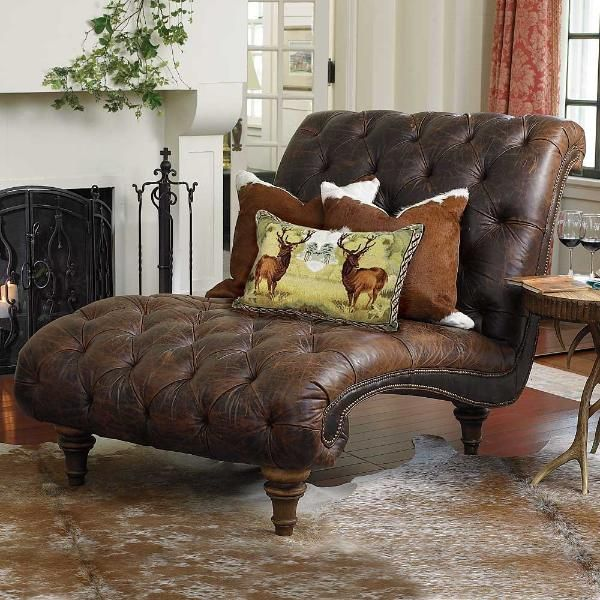 Croco Embossed Tufted Chaise Furniture Home Home Furniture