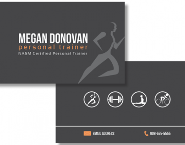 Personal Training Business Card Tarjetas de presentacion