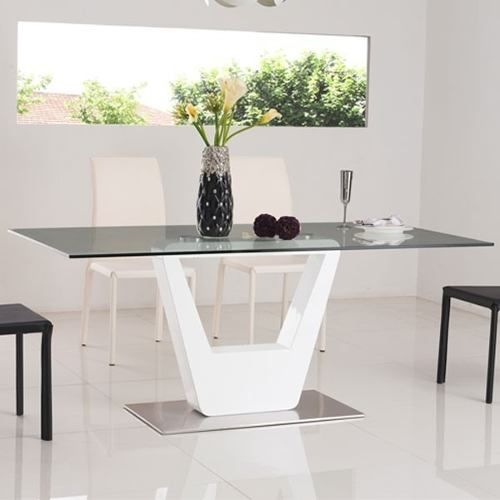 mesa comedor vidrio - tapizada - moderna - linea premium | 4Home ...