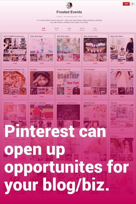 Misty of @frostedevents shares how her Pinterest account opened up exciting opportunities for her. Plus other great Pinterest tips!