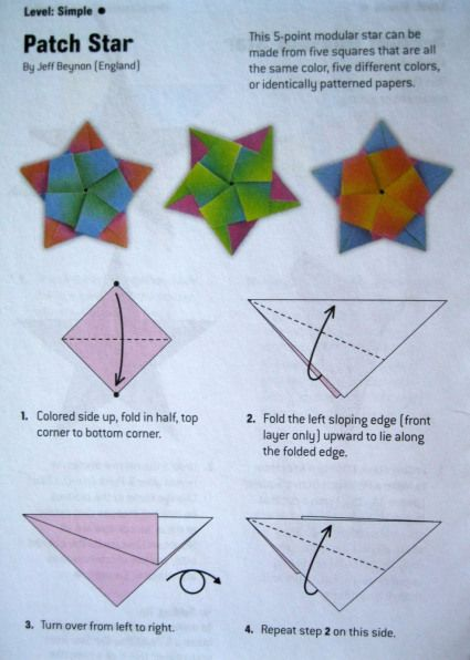 Origami Directions For A Five Pointed Star