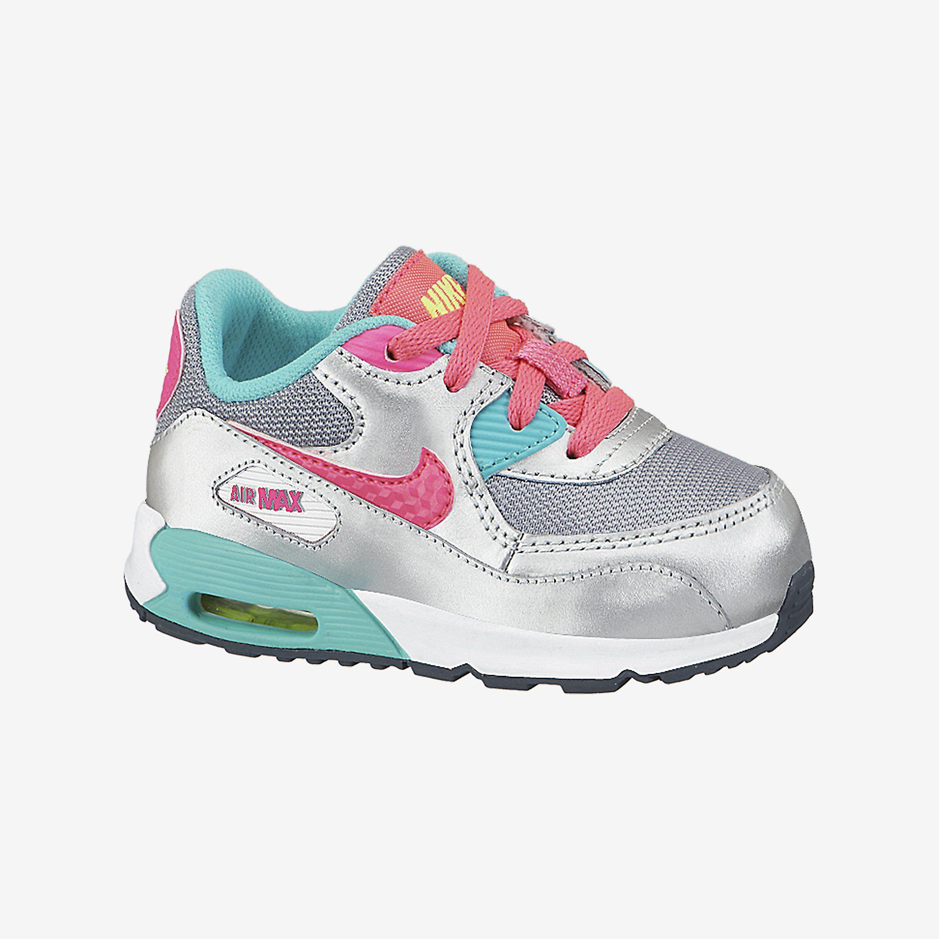Nike Air Max 90 2007 (2c 10c) InfantToddler Girls' Shoe