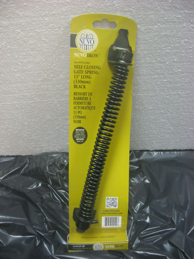 Nuvo Iron Scgs13blk Self Closing Gate Spring 13 Long Black