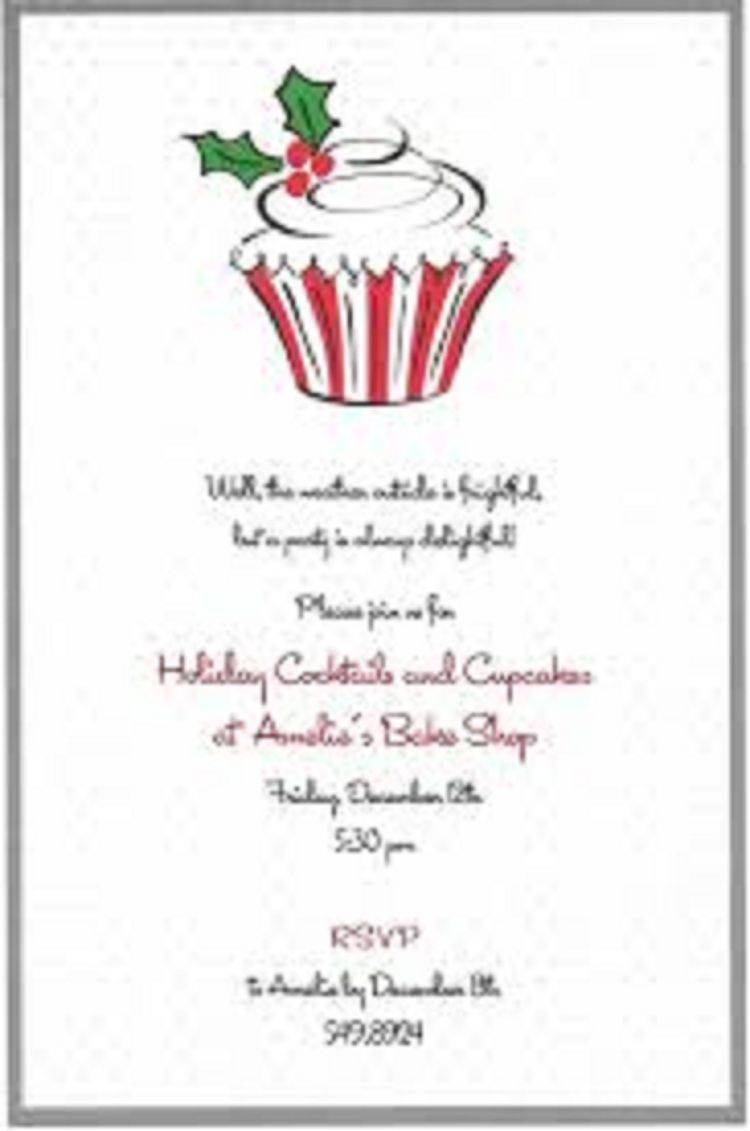 Christmas Party Invitation Wording Business | Party Invitation Ideas ...