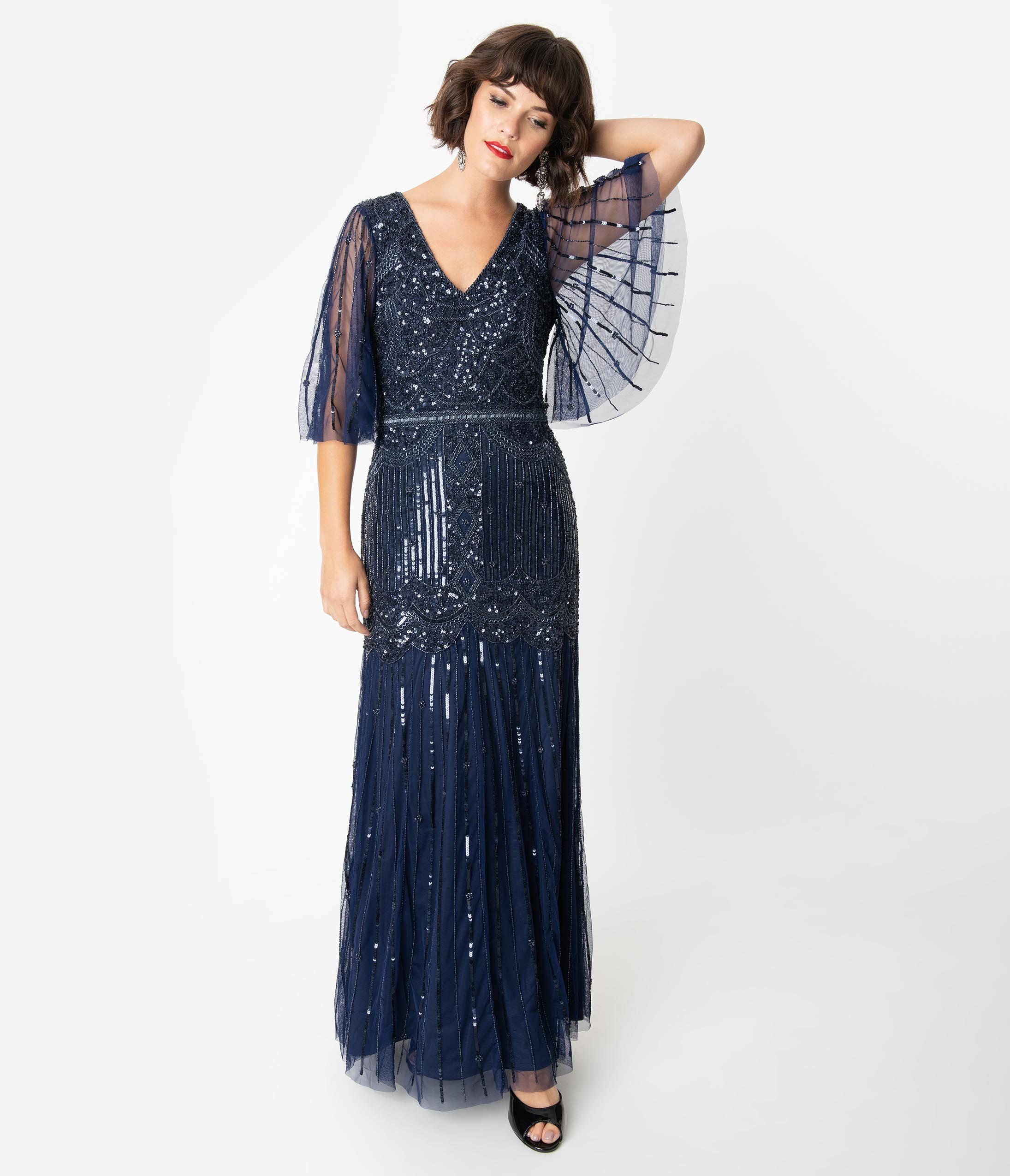 1920s Downton Abbey Inspired Clothing Long Flapper Dress Dresses Feather Dress [ 2550 x 2190 Pixel ]