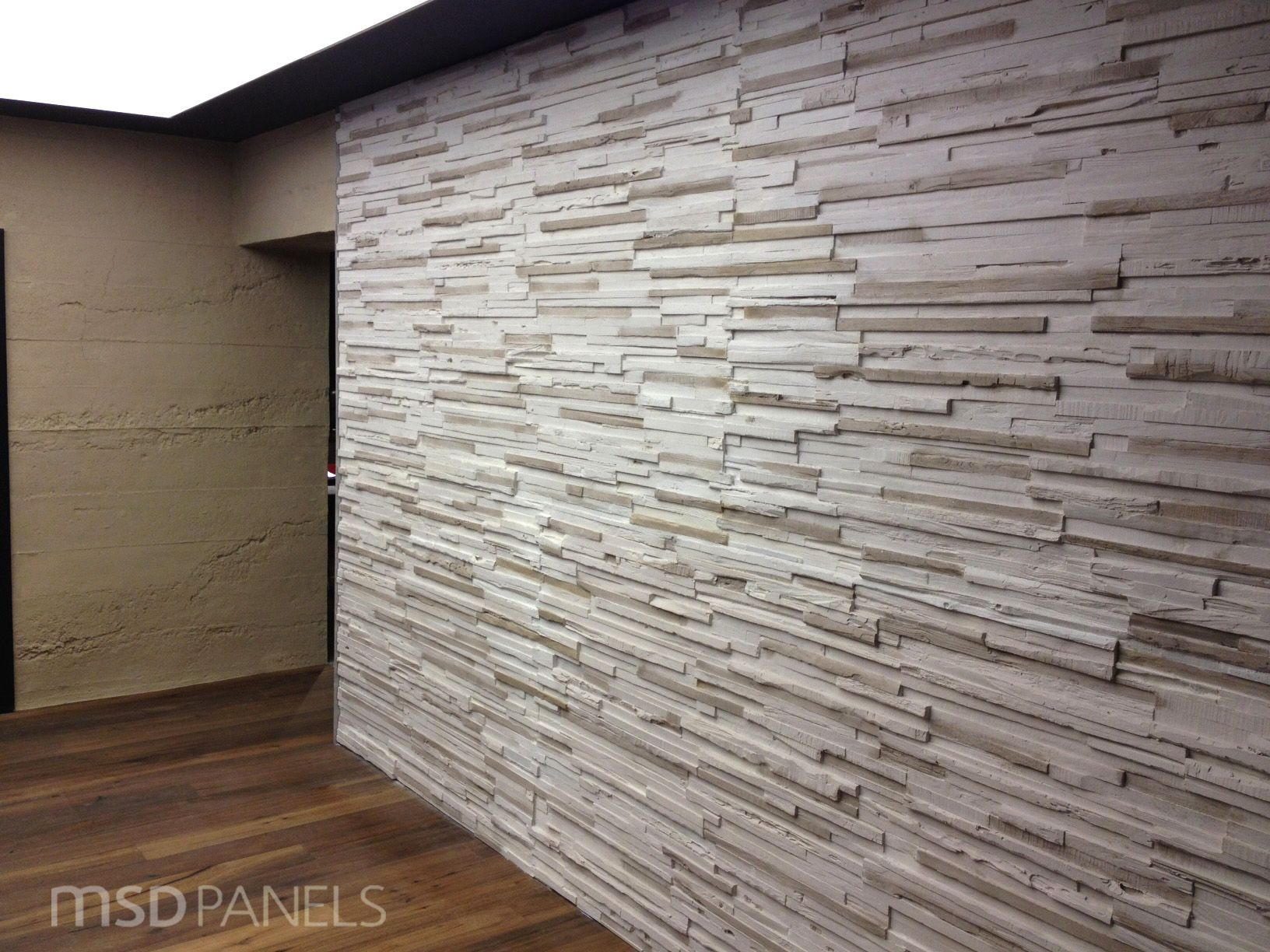 our off white plywood dress up this interior wall and you. Black Bedroom Furniture Sets. Home Design Ideas