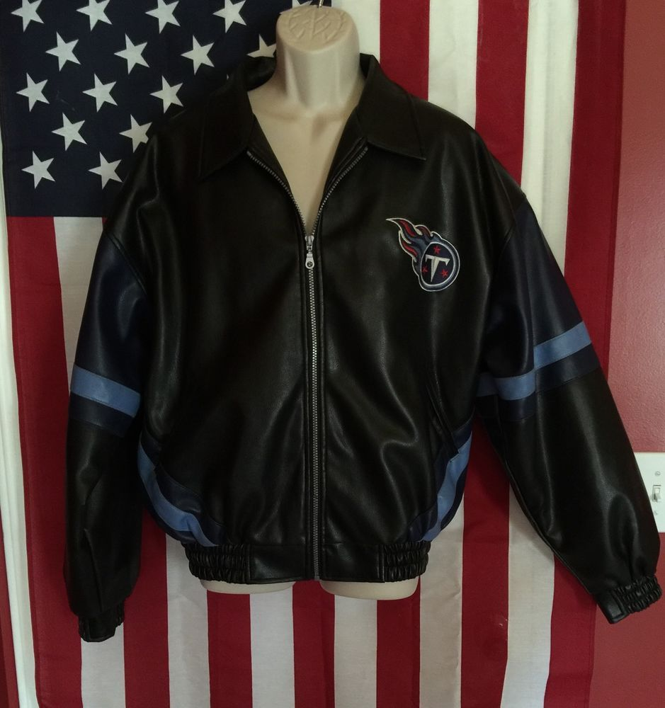 NFL Tennessee Titans GAMEDAY Faux Leather Bomber Jacket 5605909e2