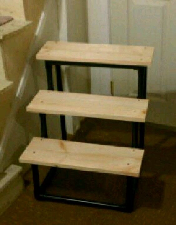 Doggie Steps Pvc Pipe Spray Painted Black An Wood Boards