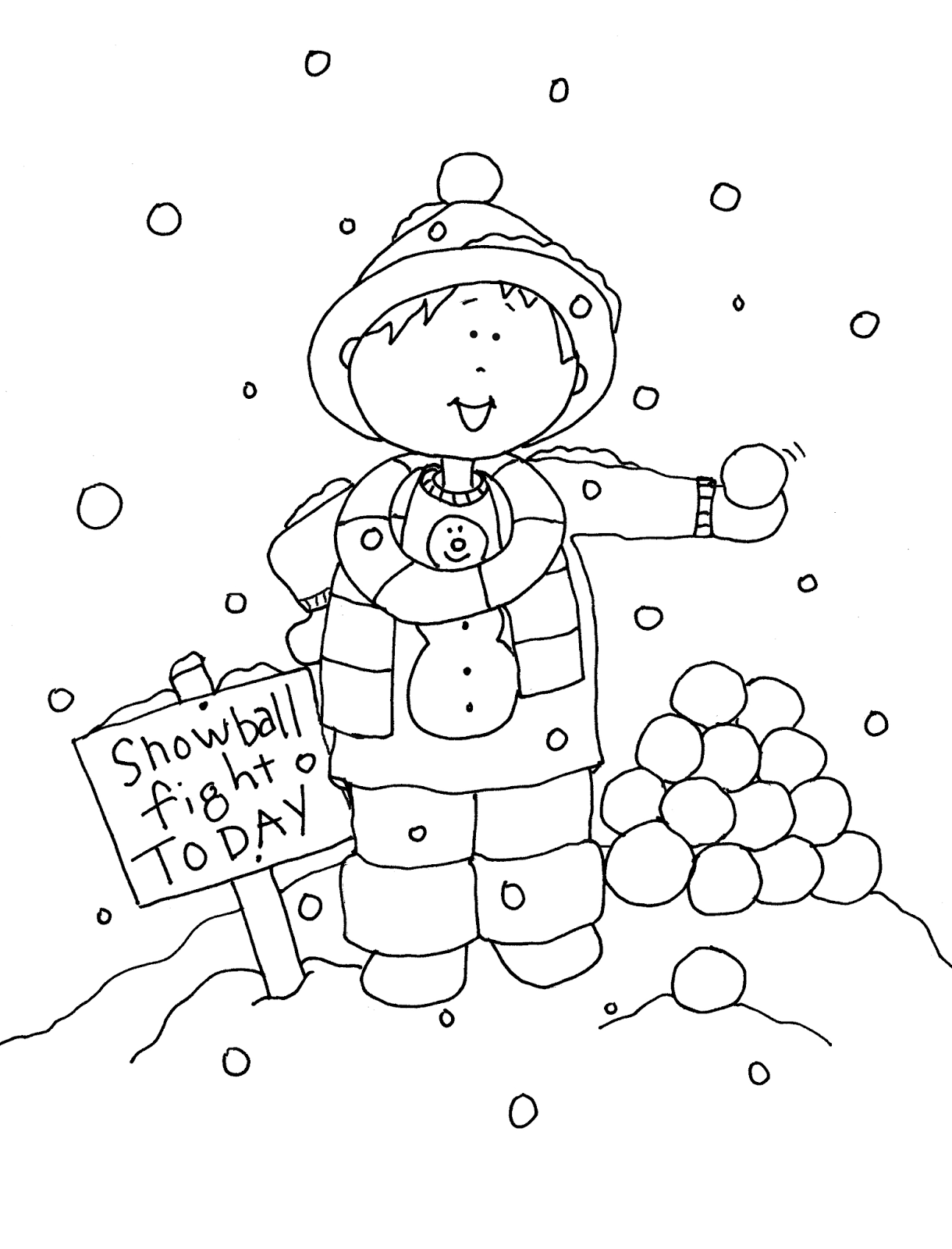 Snowball Fight Today Digi Stamps Digital Stamps Snowball Fight