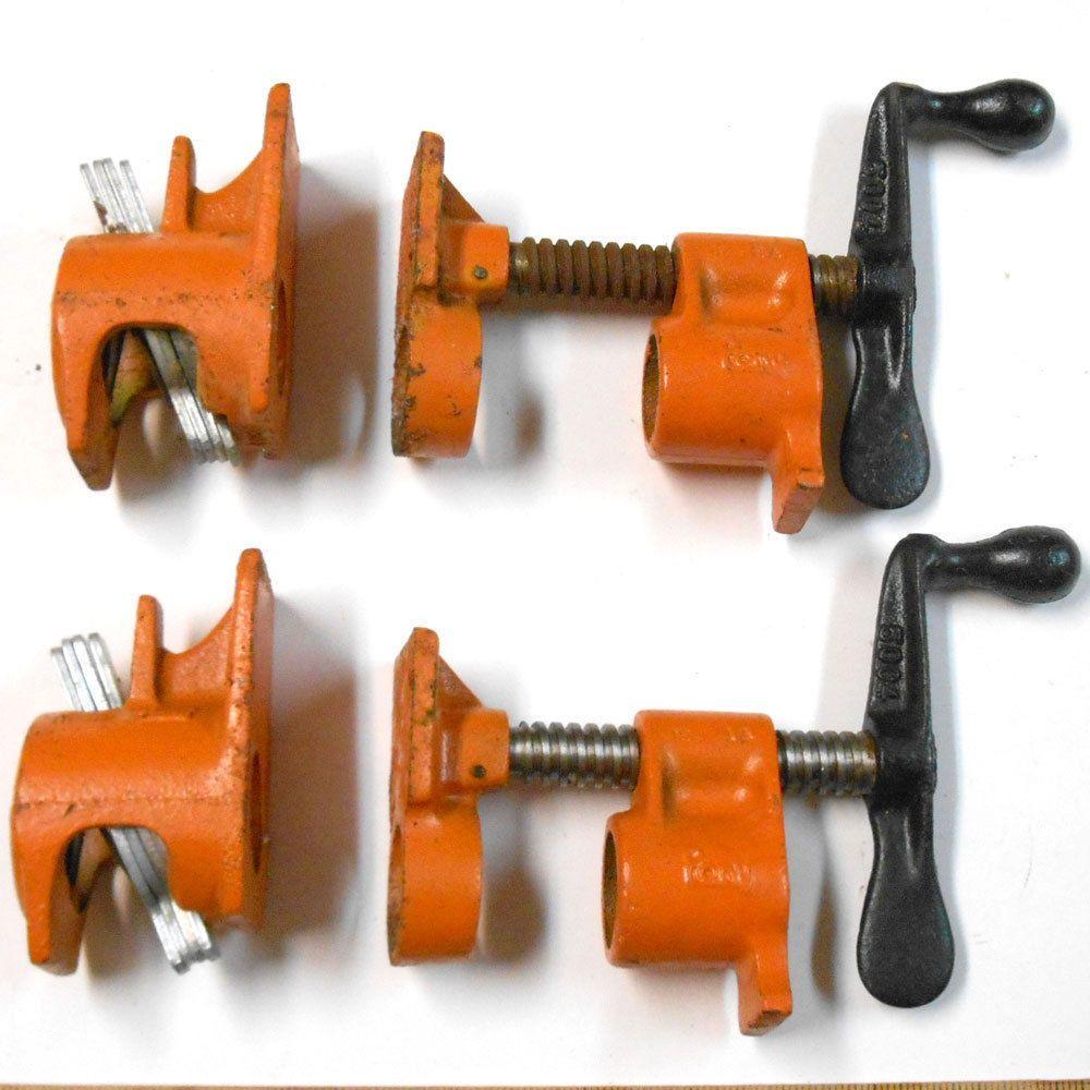 VINTAGE 2 pk Jorgensen 50 Pony Pipe clamp fixture 3/4 ...