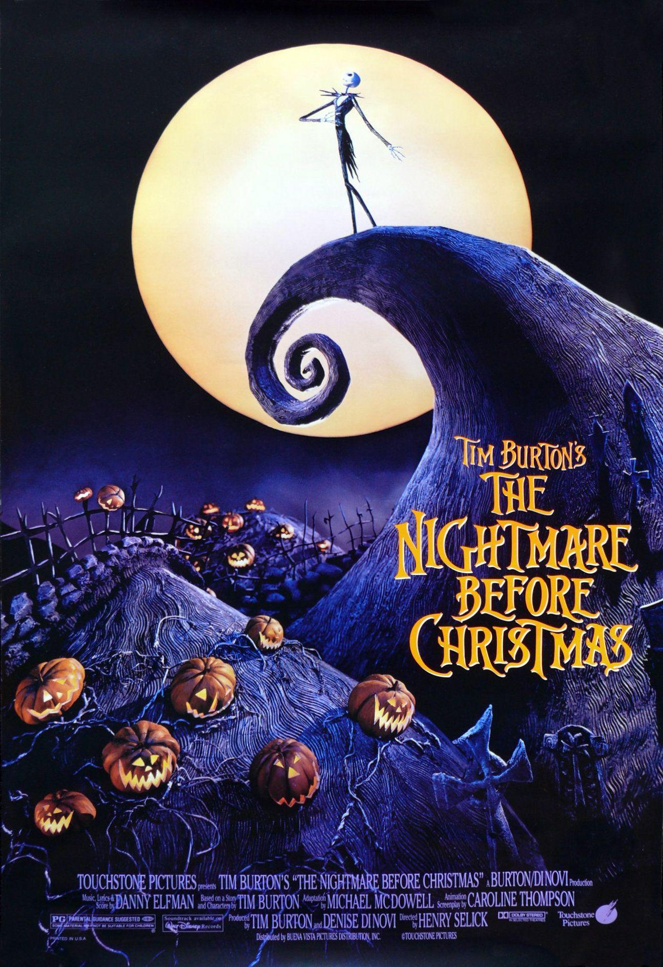 The Nightmare Before Christmas 1993 Director Henry Selick Stars Danny Elfman Chr Nightmare Before Christmas Movie Best Halloween Movies Halloween Film