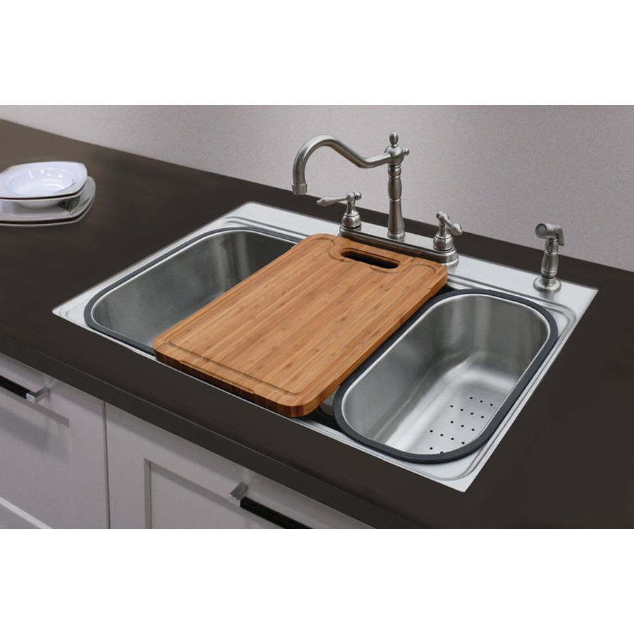 shop american standard 20 gauge single basin drop in or undermount american standard kitchen sink. Interior Design Ideas. Home Design Ideas